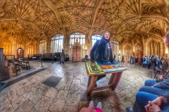 Bodleian Library a) Divinity School: Harry Potter and the Philosopher's Stone