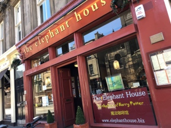 The Elephant House Edinburgh: The Birthplace of Harry Potter - JK Rowling has written the books here.
